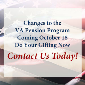 Changes to the VA Pension Program Coming October 18 - Contact Us Today!